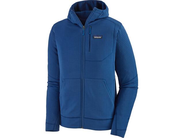 Patagonia R1 Sudadera Capucha Cremallera Completa Hombre, azul